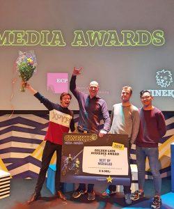 DROPSTUFF.nl wint Gouden Leeuw Publieksprijs Cinekid