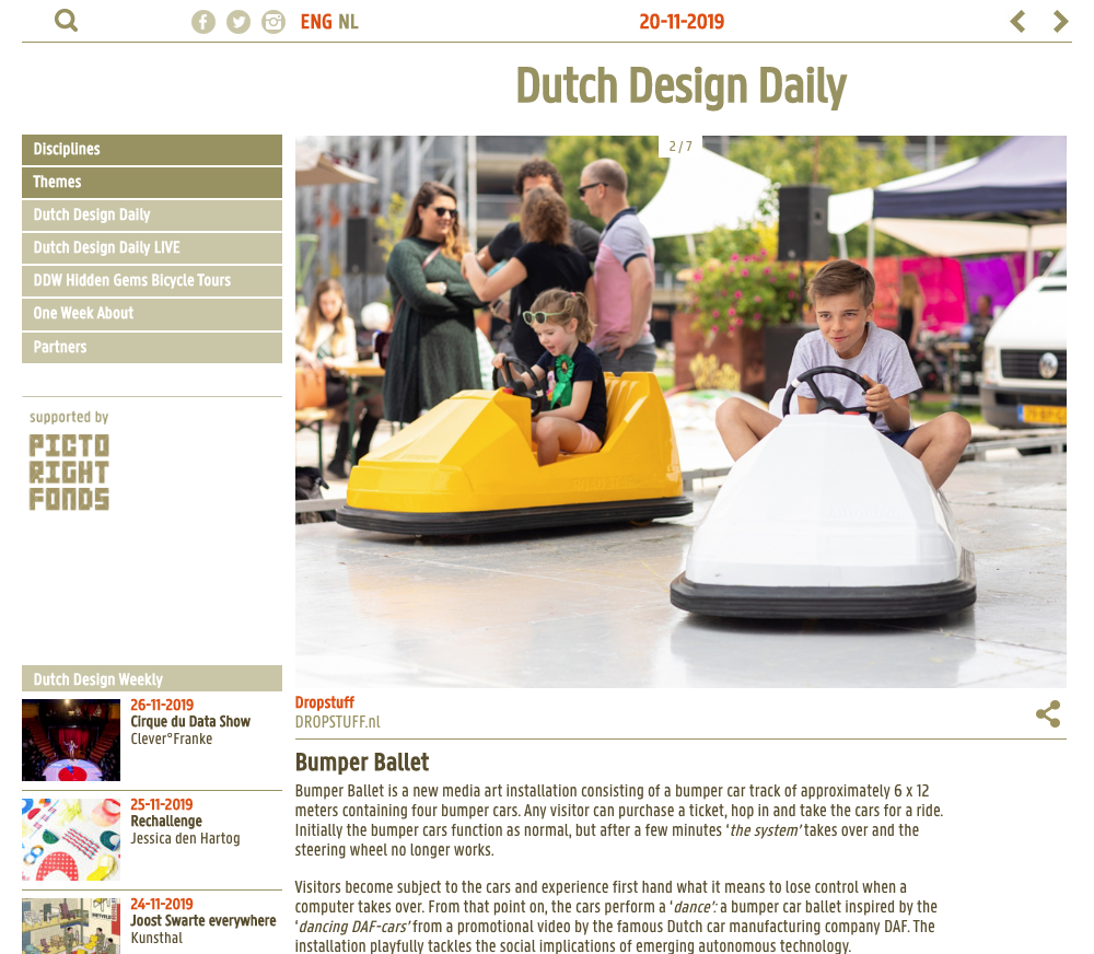 Bumper Ballet - Dutch Design Daily - 20 November 2019