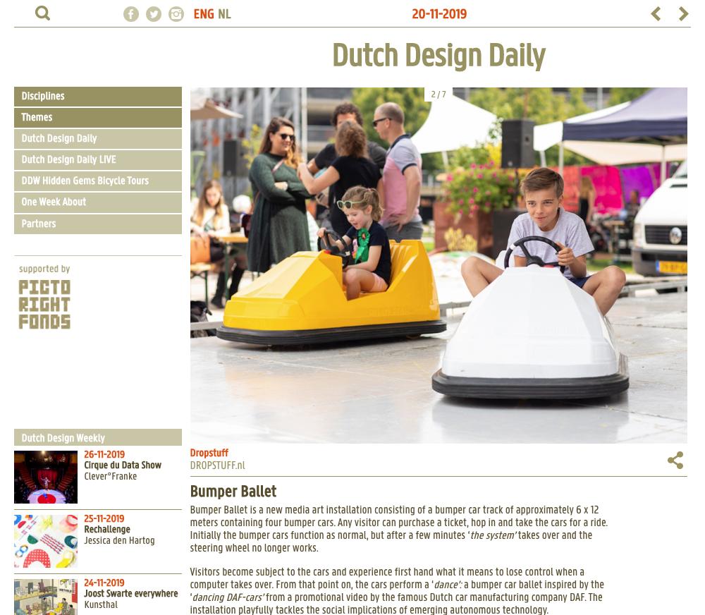 Bumper Ballet - Dutch Design Daily - 20 November 2019